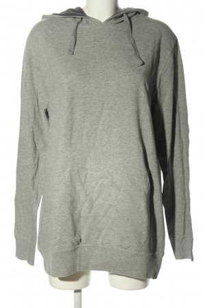 Authentic Hooded Sweater light grey flecked casual look
