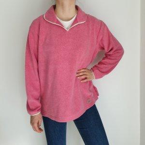 Authentic Klein Pink Cardigan Strickjacke Oversize Pullover Hoodie Pulli Sweater Top True Vintage