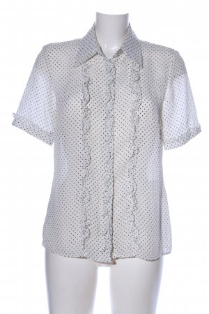 Authentic Short Sleeved Blouse white-black spot pattern casual look