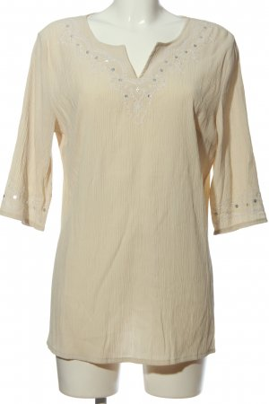 Authentic Tunic Blouse cream casual look