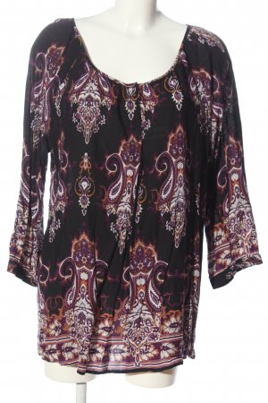 Authentic Long Sleeve Blouse abstract pattern casual look