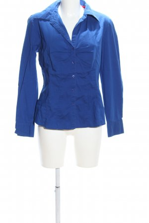 Authentic Langarm-Bluse blau Business-Look