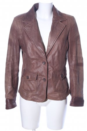 Authentic Leather Blazer brown business style