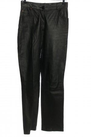 Authentic Leather Trousers black casual look