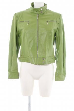 Authentic Leather Jacket green casual look