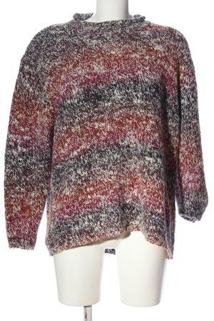 Authentic Sweter z okrągłym dekoltem czarny-czerwony Melanżowy W stylu casual