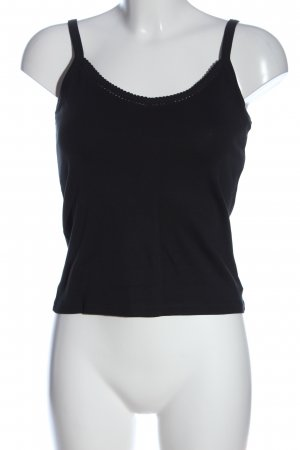Authentic Spaghetti Strap Top black casual look