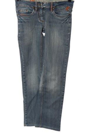 Authentic Jeansy z prostymi nogawkami niebieski W stylu casual