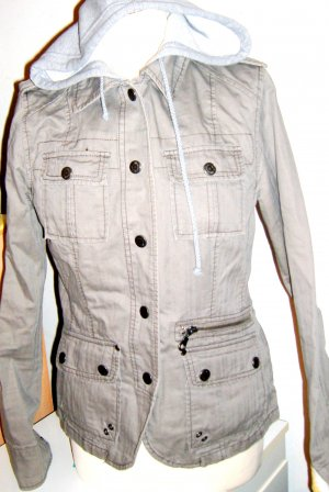 Authentics Veste safari gris vert-gris clair