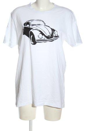 Authentic Style Shirt met print wit-zwart prints met een thema