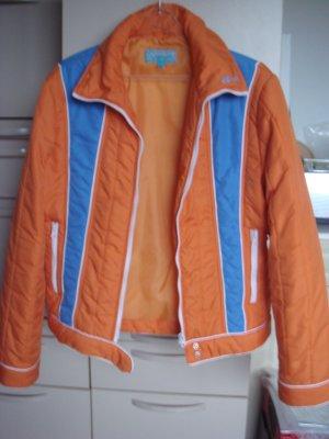 Authentic Style - Skijacke, Anorak, Jacke  Gr. 40 42 orange blau - ausgefallen
