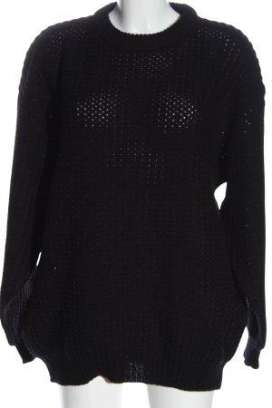 Authentic Style Gebreide trui zwart casual uitstraling