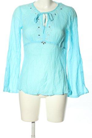 Authentic Tunique-blouse turquoise style décontracté