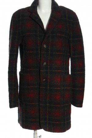 Authentic Between-Seasons-Coat red-green allover print casual look