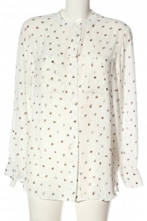 Autograph Shirt Blouse cream-brown allover print casual look