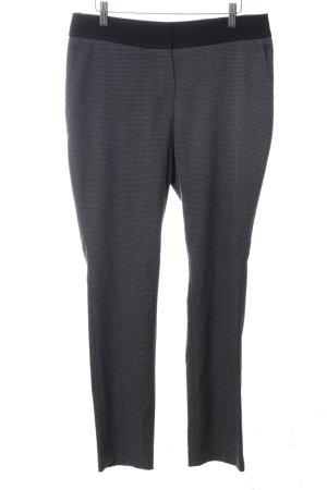 Autograph Pantalon en jersey gris clair-noir motif à carreaux