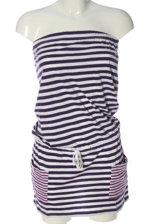 autre ton Vestido strapless estampado a rayas look casual
