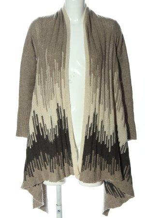 Autumn cashmere Cardigan brun-blanc cassé style décontracté