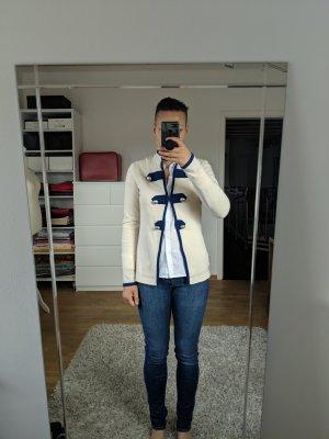 Autumn cashmere Cardigan tricotés blanc cassé-bleu cachemire