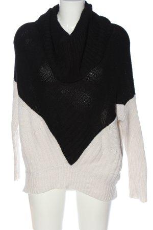 Autumn cashmere Pull-over à col roulé noir-blanc style décontracté