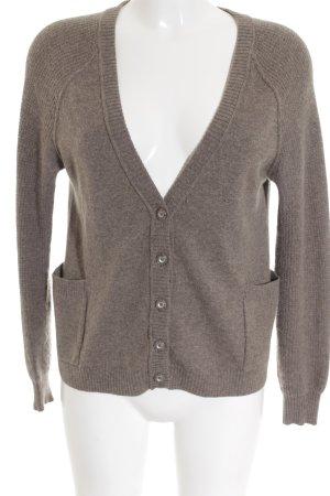 Autumn cashmere Veste en tricot gris brun style décontracté