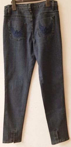 Ava Woman Tube jeans donkerblauw