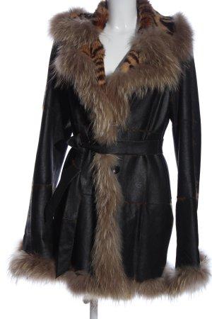 Ava Woman Pelt Coat black street-fashion look