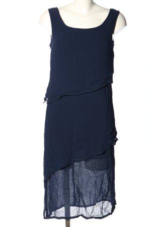 Avance Creation Chiffon jurk blauw casual uitstraling