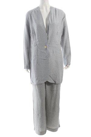 Avance Creation Tailleur-pantalon blanc-bleu pâle style décontracté
