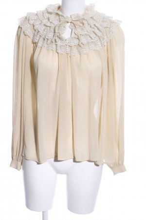 Avance Creation Ruffled Blouse natural white-white business style