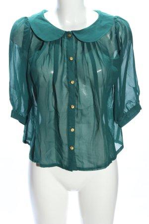 Avant Première Transparenz-Bluse grün Casual-Look