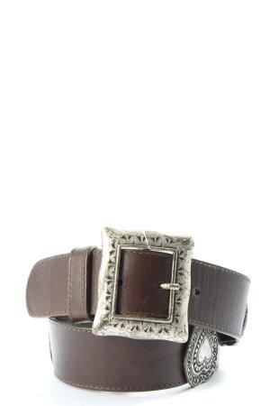 Avantgarde Cinturón de cuero de imitación marrón look casual