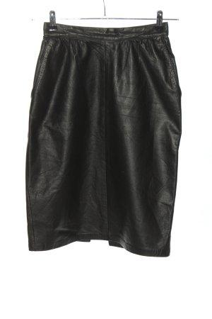 Avanti Leren rok zwart casual uitstraling