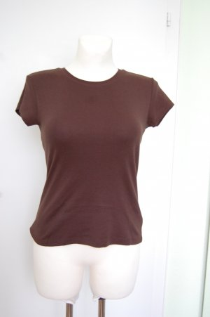 Avanti T-shirt zwart bruin Katoen