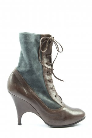 Avanti Lace-up Booties brown-light grey casual look