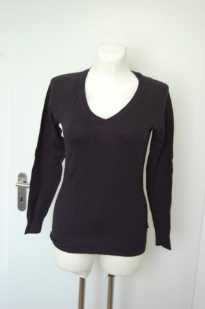 Avanti V-Neck Sweater dark blue cotton