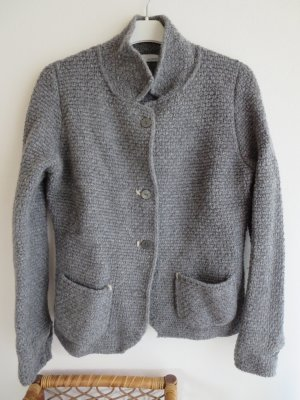 Cardigan a maglia grossa grigio Lana