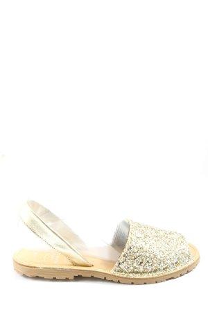AVARCA MENORQUINA Comfort Sandals gold-colored glittery