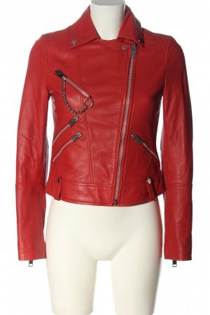 AVEC LES FILLES Leather Jacket red casual look