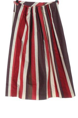 Avelon Falda cruzada rojo-blanco estampado a rayas look casual