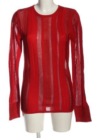 Avelon Maglione di lana rosso stile casual