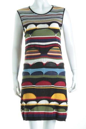Aventures des Toiles Robe en maille tricotées motif rayé style extravagant