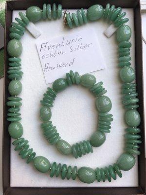 Aventurin Halskette und Armband (ungetragen)