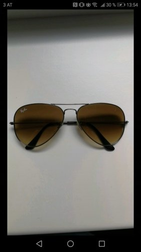 Ray Ban Oval Sunglasses silver-colored-light brown