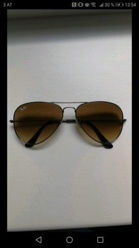 Ray Ban Occhiale da sole ovale argento-marrone chiaro