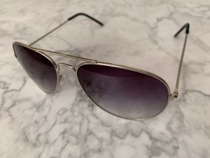 Aviator Sonnenbrille wie neu grau blau silber Nickelfrei
