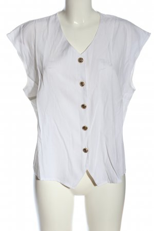 Avitano Mouwloze blouse wit casual uitstraling
