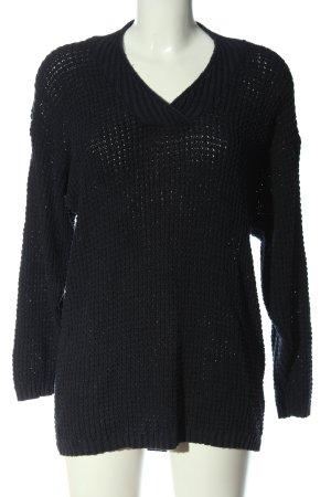 Avitano Gehaakte trui zwart casual uitstraling