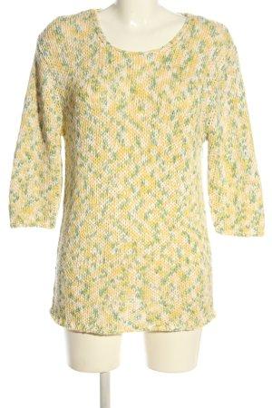 Avitano Crochet Sweater abstract pattern casual look
