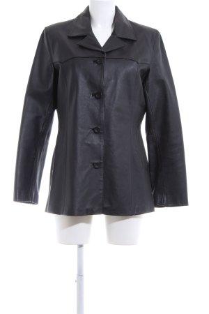 Avitano Veste en cuir noir style d'affaires